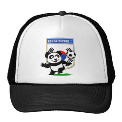 Trucker Hat with South Korea Football Panda design