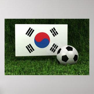 South Korea Soccer Poster