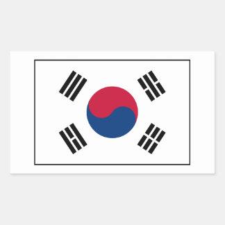 South Korea – South Korean Flag Rectangular Stickers
