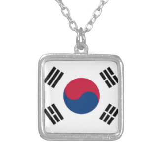 South Korea Square Sterling Silver Plated Necklace