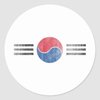 SOUTH KOREA ROUND STICKERS