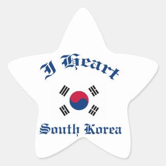 south korea star sticker