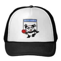 Trucker Hat with South Korean Table Tennis Panda design