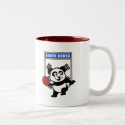 Two-Tone Mug with South Korean Table Tennis Panda design