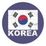 South Korea Vintage Flag Sticker