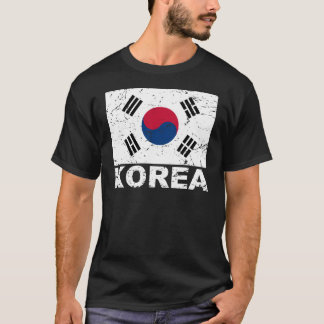 South Korea Vintage Flag T-Shirt