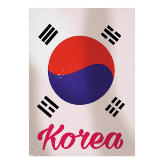 South Korea Vintage travel poster