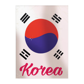 South Korea Vintage travel poster Acrylic Wall Art