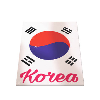 South Korea Vintage travel poster Canvas Print
