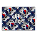 South Korea Waving Flag Card