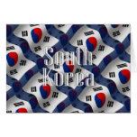 South Korea Waving Flag Greeting Cards