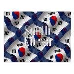 South Korea Waving Flag Postcard