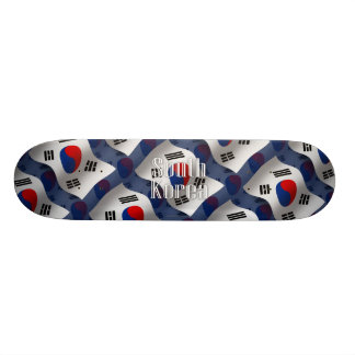 South Korea Waving Flag Skateboard Deck