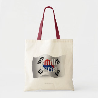 South Korea Waving Flag Tote Bag