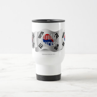 South Korea Waving Flag Travel Mug
