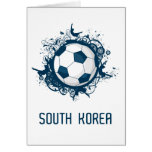 South Korea World Greeting Card