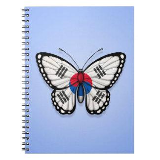 South Korean Butterfly Flag on Blue Journal