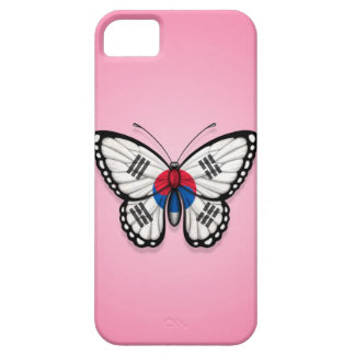 South Korean Butterfly Flag on Pink iPhone SE/5/5s Case