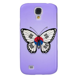 South Korean Butterfly Flag on Purple Samsung S4 Case