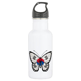 South Korean Butterfly Flag Stainless Steel Water Bottle