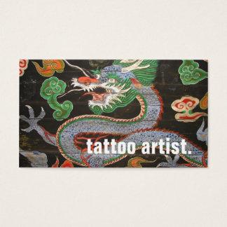South Korean Dragon Art Namdaemun | Tattoo Artist Business Card