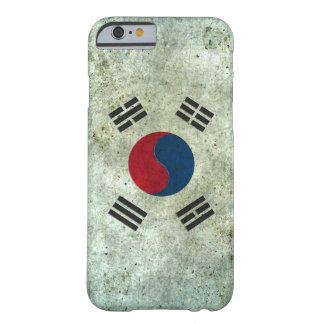 South Korean Flag Aged Steel Effect Barely There iPhone 6 Case