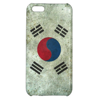 South Korean Flag Aged Steel Effect Cover For iPhone 5C