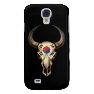 South Korean Flag Bull Skull on Black Samsung Galaxy S4 Cover