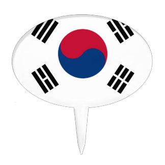South Korean Flag Cake Topper