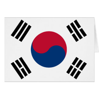 South Korean Flag Card