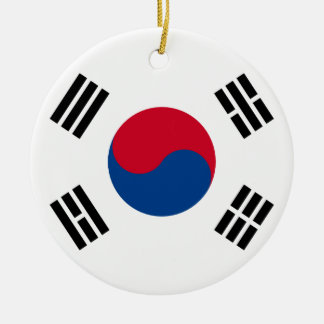 South Korean Flag Ceramic Ornament