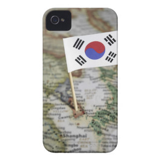 South Korean flag in map Case-Mate iPhone 4 Case
