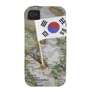 South Korean flag in map iPhone 4 Case