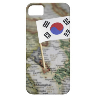 South Korean flag in map iPhone SE/5/5s Case