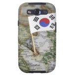 South Korean flag in map Samsung Galaxy S3 Covers