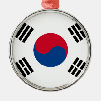 South Korean Flag Metal Ornament