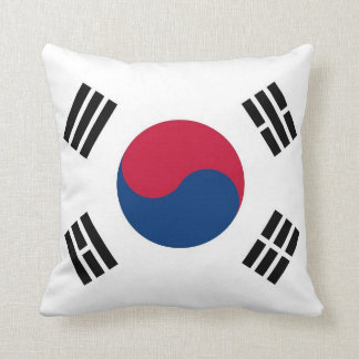 South Korean Flag on American MoJo Pillow