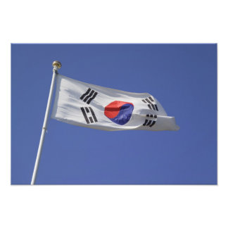 South Korean Flag Photo Print