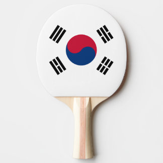 South Korean flag ping pong paddle for tabletennis