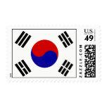 South Korean Flag Postage Stamps