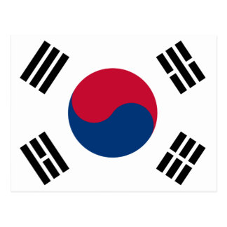South Korean Flag Postcard