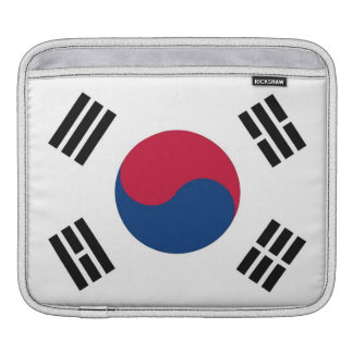 South Korean Flag Rickshaw Sleeve Sleeves For iPads