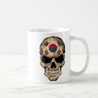 South Korean Flag Skull Coffee Mug