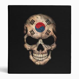 South Korean Flag Skull on Black Binders