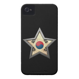 South Korean Flag Star on Black iPhone 4 Cases