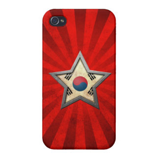 South Korean Flag Star with Rays of Light Cover For iPhone 4