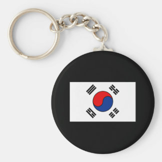 South Korean Flag T-shirts and Gifts Basic Round Button Keychain