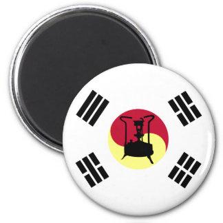 South Korean flag with Kerosene pressure stove Magnet
