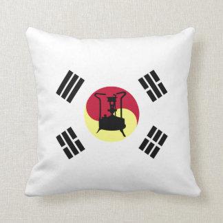 South Korean Flag with Pressure stove Throw Pillow