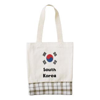 South Korean Flag Zazzle HEART Tote Bag